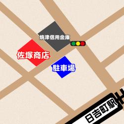 佐塚商店、駐車場地図